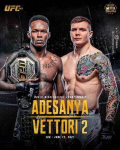 Apuestas, predicciones professionales, UFC 263 Adesanya vs Vettori 2