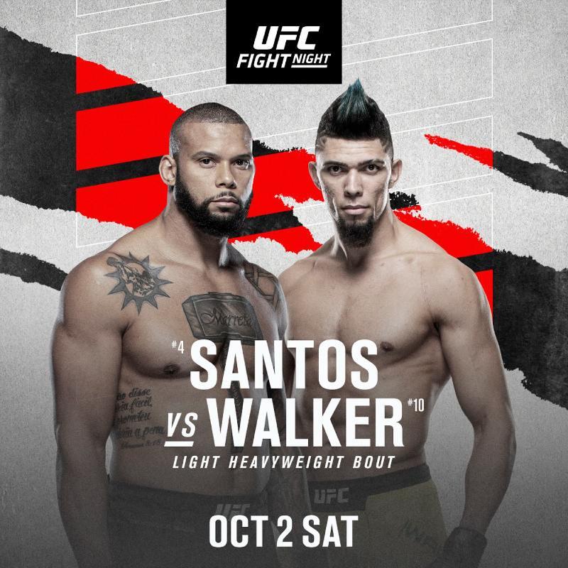 Santos vs Walker apuestas ufc